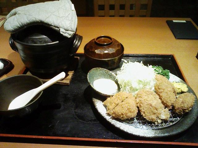 銀豚・カキフライ&ヒレかつ膳
