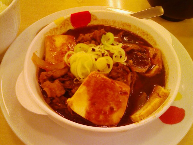 松屋・牛味噌煮込み豆腐定食