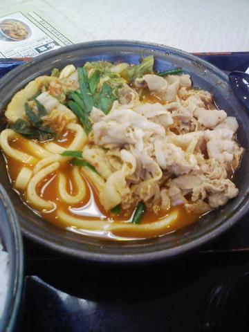吉野家・キムチチゲ定食