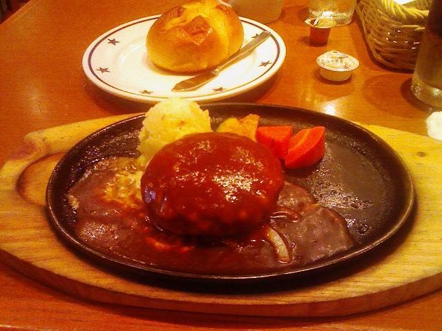 ステーキのどん・Wチーズハンバーグランチ