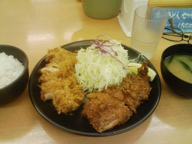 チキン亭・唐揚げ&チキンかつ盛り合わせ定食