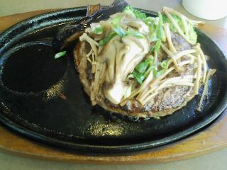 ステーキのどん(きのこハンバーグ)